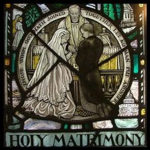 wedding stained glass